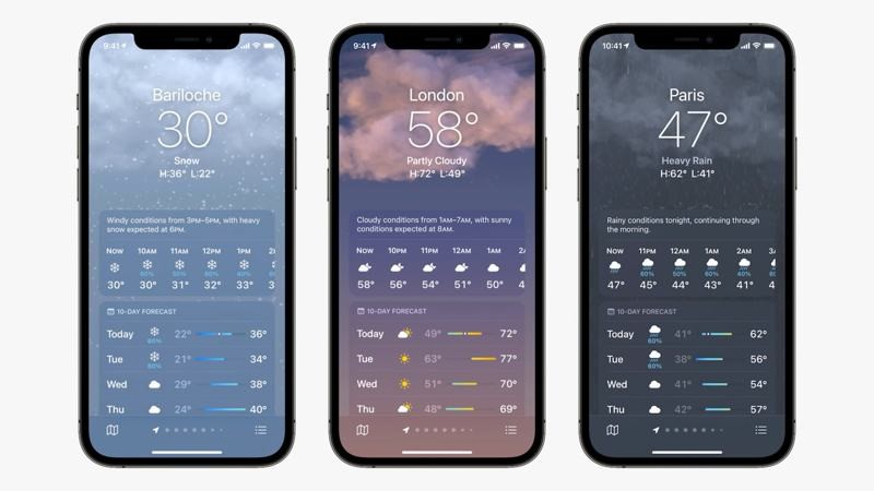 iOS 15 Weather