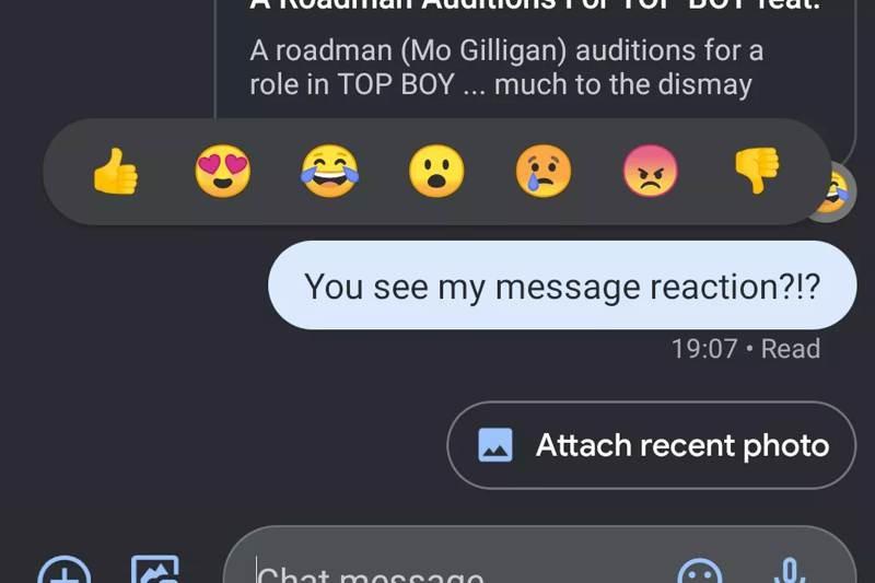 Google Messages: Δοκιμές για αντιδράσεις με emoji στα μηνύματα, όπως στο iMessage