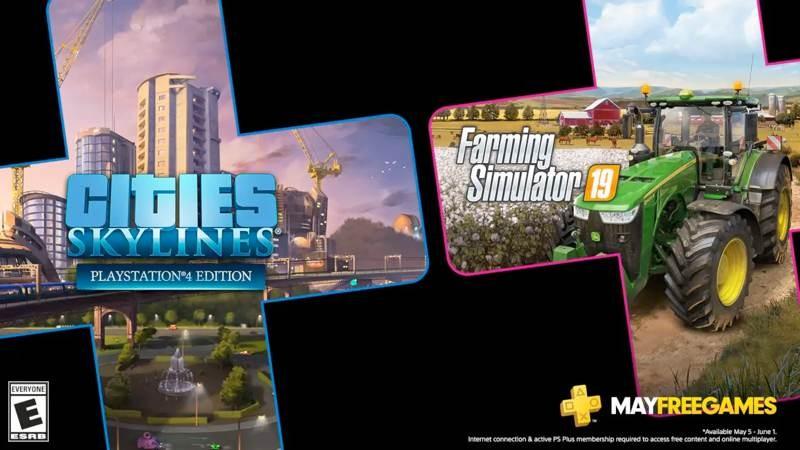 Cities: Skylines και Farming Simulator 19 τα δωρεάν παιχνίδια στο PS Plus για το Μάιο
