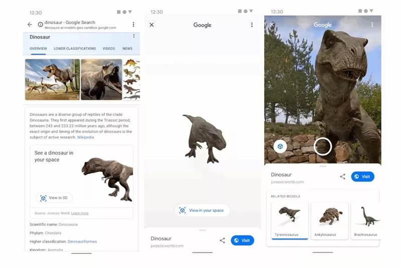 Google: Ταξιδέψτε πίσω στον χρόνο, με τους AR δεινόσαυρους του Search 1