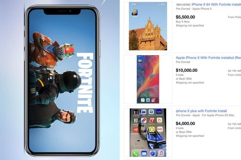 iPhone με εγκατεστημένο το Fortnite σε εξωφρενικές τιμές στο eBay