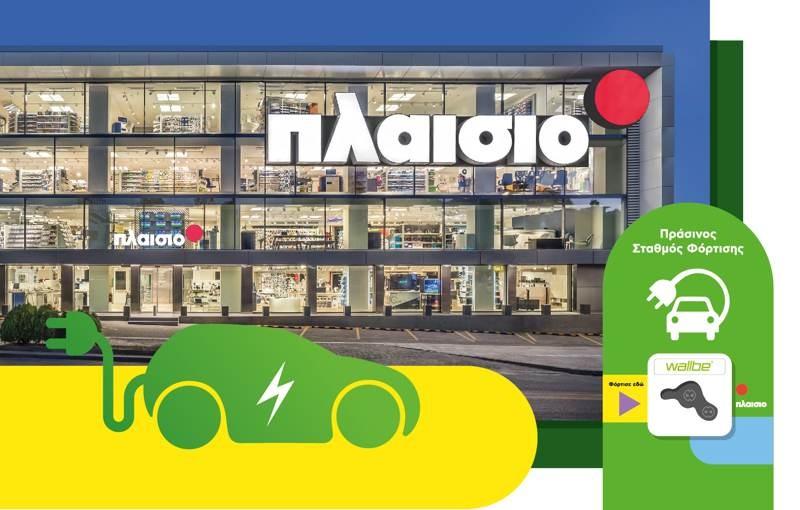 ΠΛΑΙΣΙΟ: Εγκαινιάζει σταθμούς φόρτισης ηλεκτρικών αυτοκινήτων στα καταστήματά της