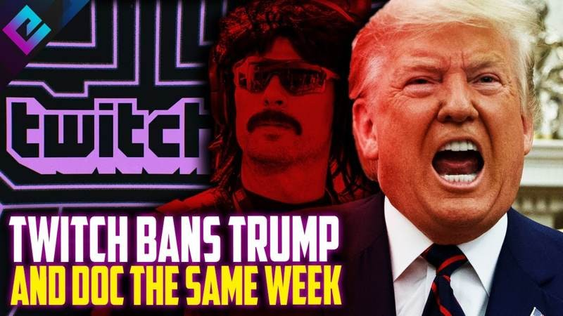 Twitch: Μετά τον Dr. Disrespect, μπλοκάρει και τον Donald Trump