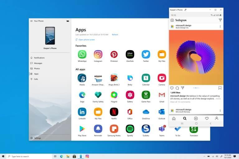 Your Phone: Τώρα τρέχει εφαρμογές από Samsung Galaxy smartphones σε Windows PC