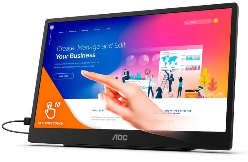 AOC 16T2: Φορητή οθόνη αφής 15.6'' FHD στα €319 1