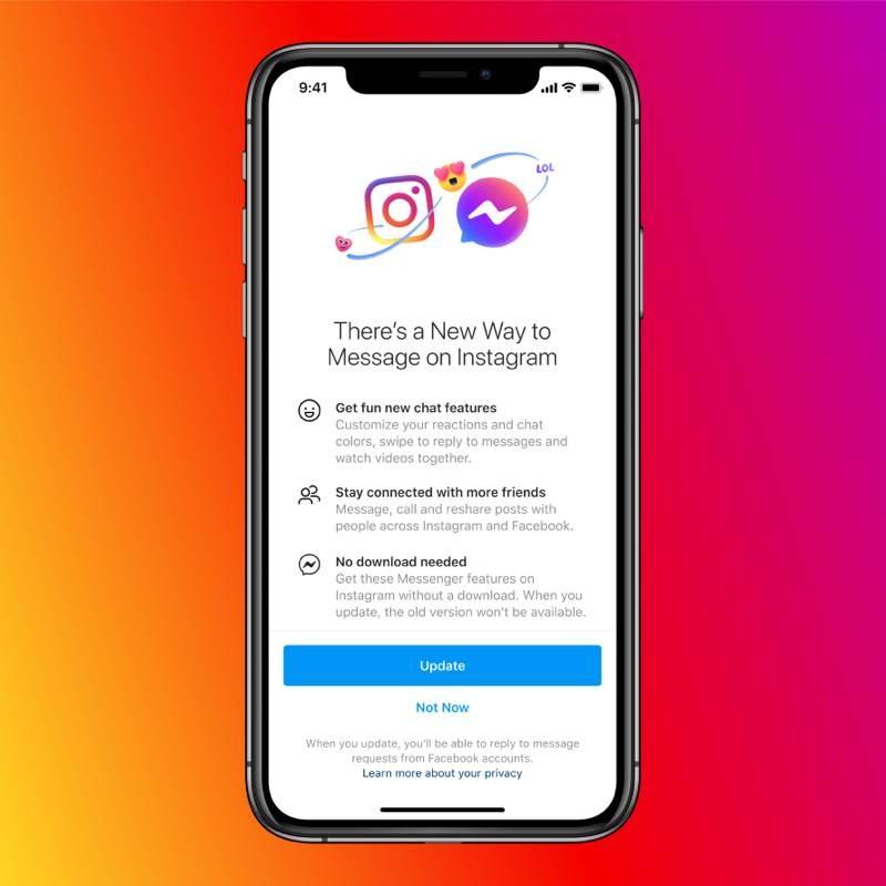 Επίσημο: Από σήμερα ξεκινά η ενοποίηση Messenger και Instagram