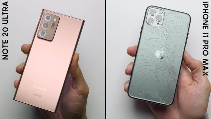 Samsung Galaxy Note20 Ultra: Τρομερά ανθεκτικό, υπερνικά το iPhone 11 Pro Max