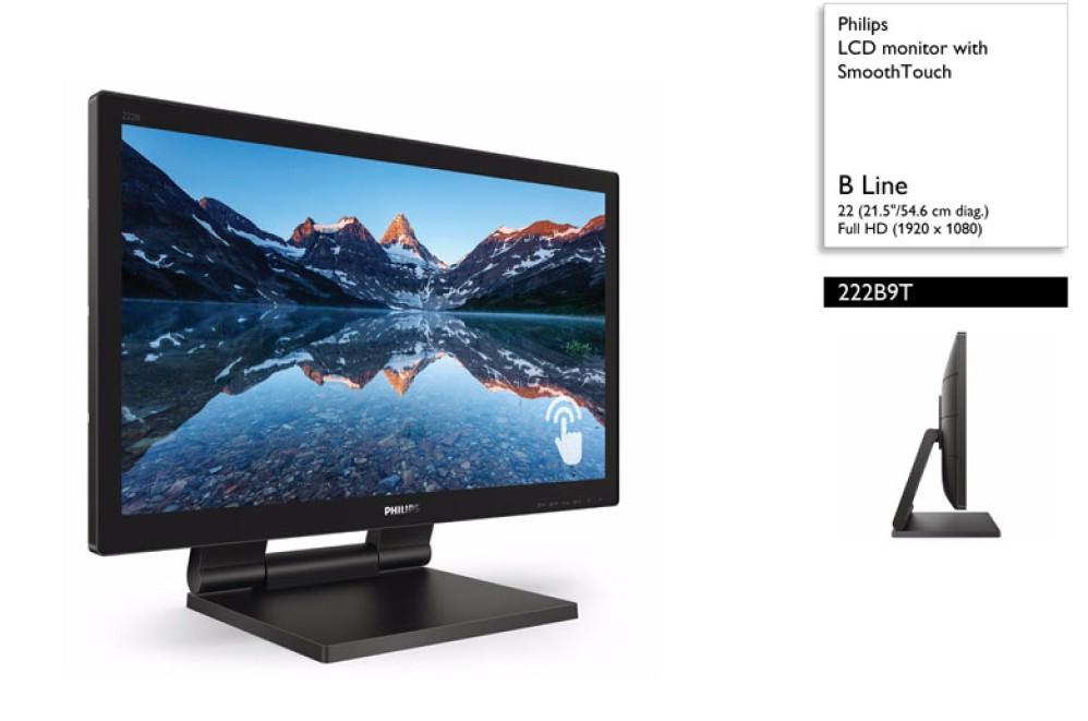 Philips 222B9T: Νέα οθόνη αφής 22'' LCD με τεχνολογία SmoothTouch