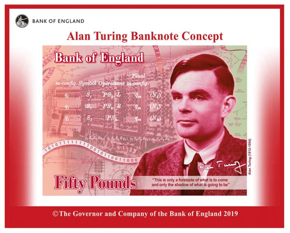 Ο πατέρας της Πληροφορικής, Alan Turing, στο νέο χαρτονόμισμα £50