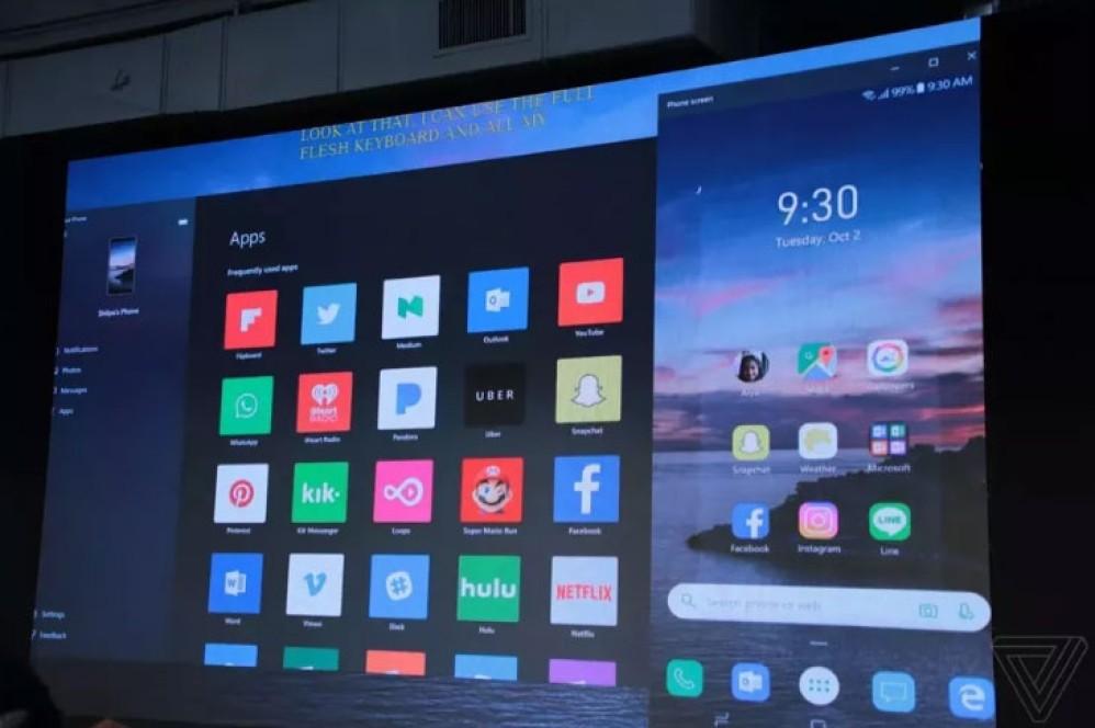 Microsoft: Δοκιμάζει mirroring εφαρμογών Android σε Windows 10