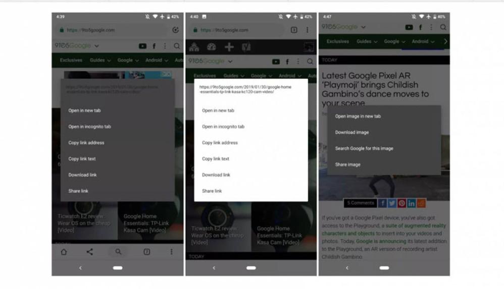 Δοκιμές για dark mode στη beta έκδοση Chrome 73 για συσκευές Android