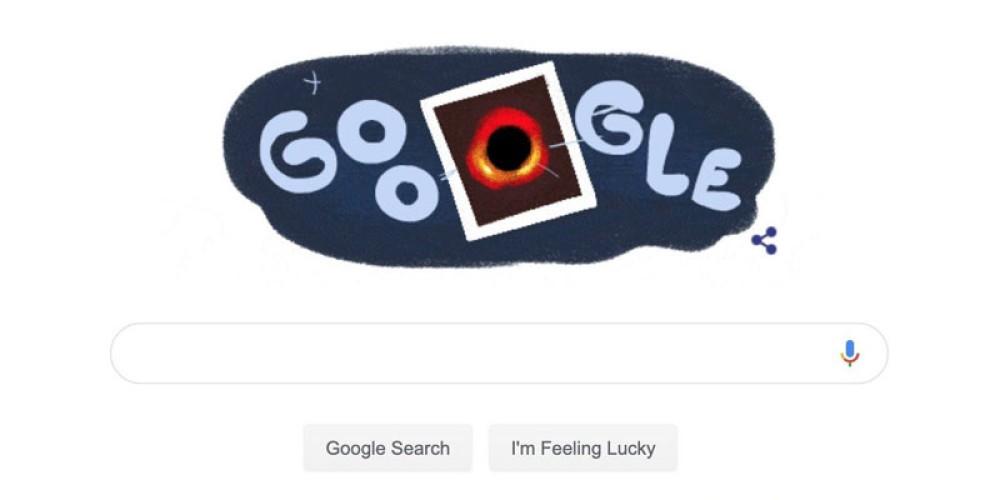 Google Doodle αφιερωμένο στην πρώτη εικόνα μαύρης τρύπας