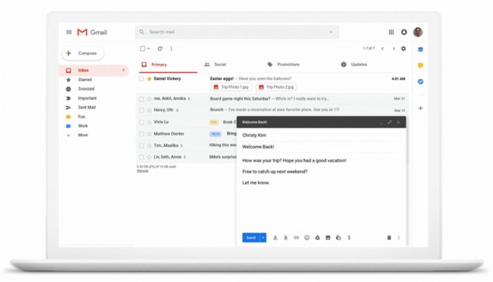 Gmail: Εορτασμός 15 χρόνων με αναβάθμιση του Smart Compose και προγραμματισμό των emails