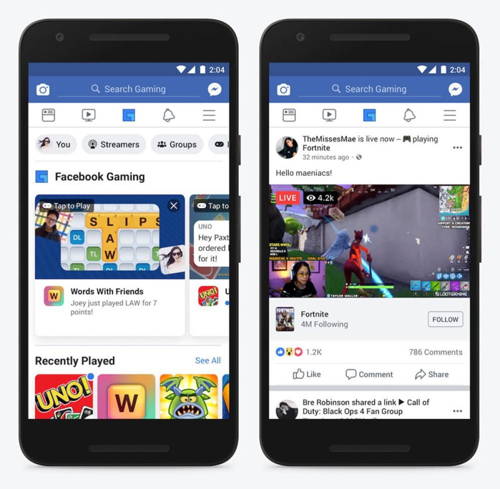 Ξεχωριστό gaming hub στην εφαρμογή Facebook