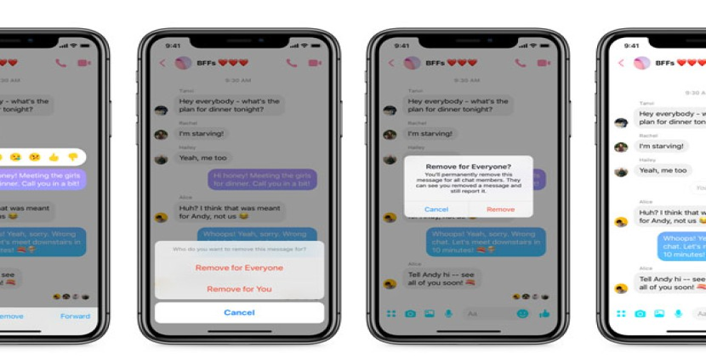 Facebook Messenger: Η λειτουργία Unsend διαθέσιμη από σήμερα σε Android και iOS