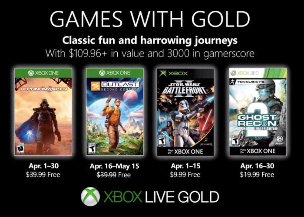 Xbox Games with Gold: Αυτά είναι τα δωρεάν παιχνίδια για τον Απρίλιο