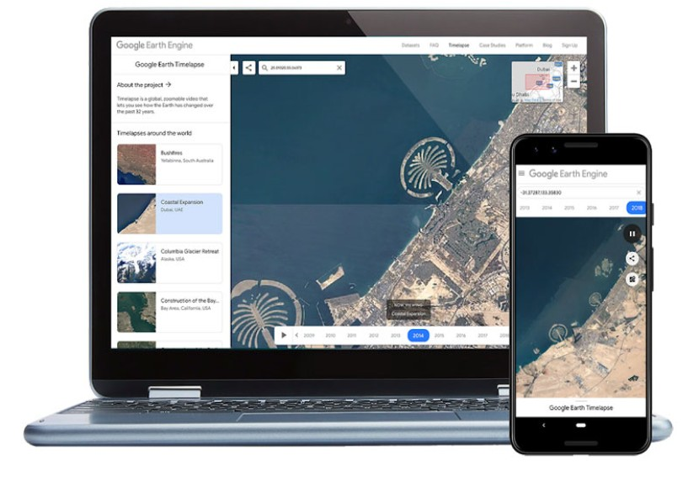 Google Earth Timelapse: Δες πόσο άλλαξε ο πλανήτης από το 1984 μέχρι σήμερα και από το smartphone σου