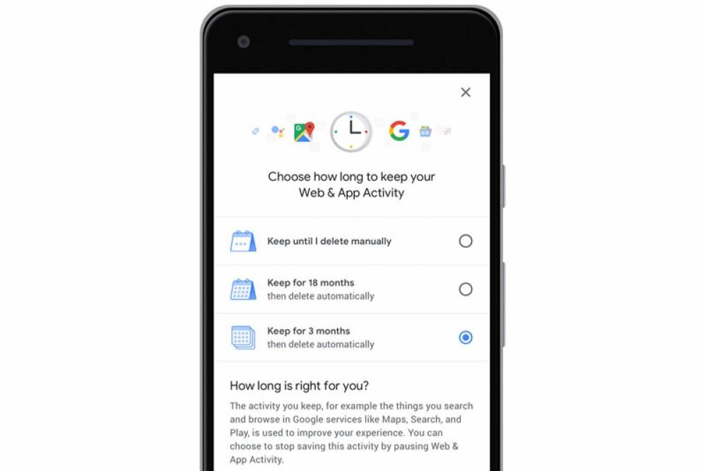Google: Η αυτόματη διαγραφή των Location History και Web & App Activity διαθέσιμη για όλους