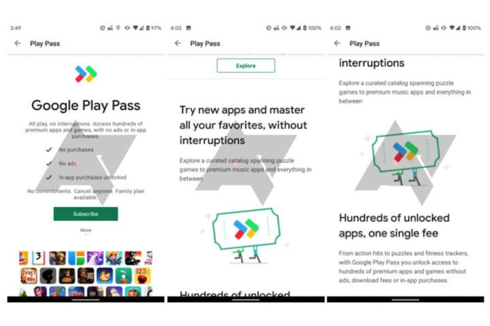Google Play Pass: Δοκιμές για συνδρομή $5/μήνα για πρόσβαση σε επί πληρωμή Android εφαρμογές
