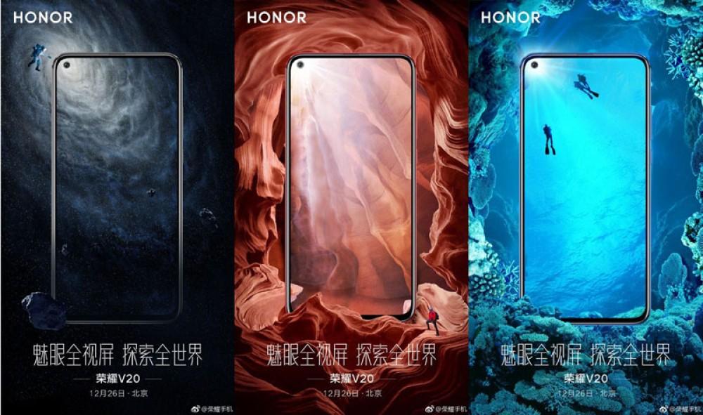 Honor V20: Αποκαλύφθηκαν τα χρώματα του εντυπωσιακού smartphone