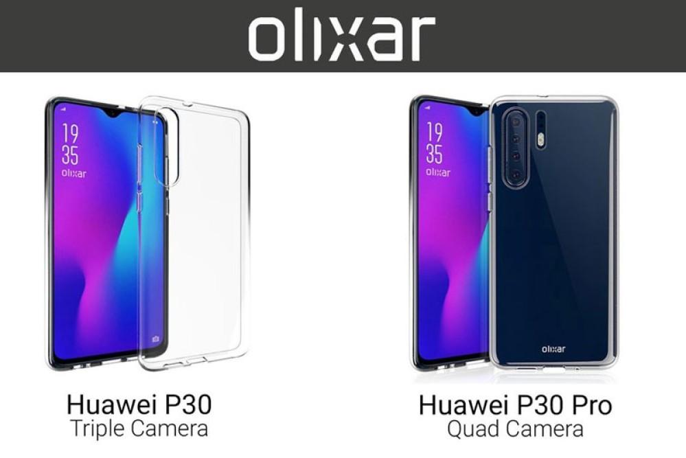 Huawei P30 / P30 Pro: Οι θήκες της Olixar αποκαλύπτουν τον σχεδιασμό τους