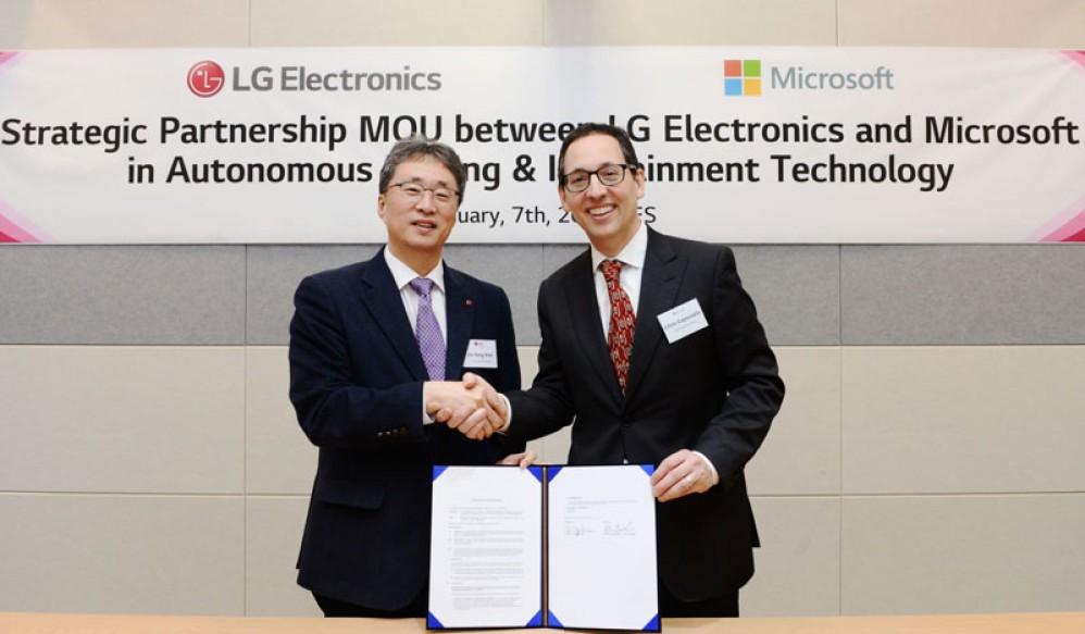 LG και Microsoft συνεργάζονται για να φέρουν την επανάσταση στην αυτοκινητοβιομηχανία