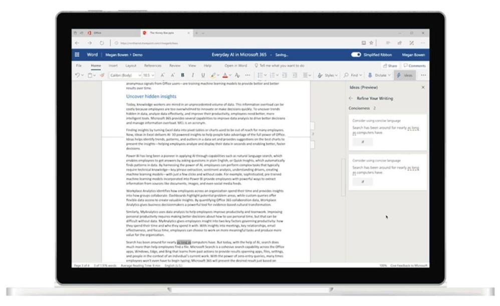Ideas: Νέο εργαλείο Τεχνητής Νοημοσύνης για να βελτιώσεις το γράψιμο σου στο Microsoft Word