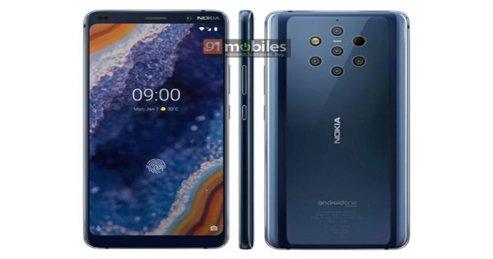 Nokia 9 Pureview: Επίσημο render αποκαλύπτει πλήρως την εμφάνιση του