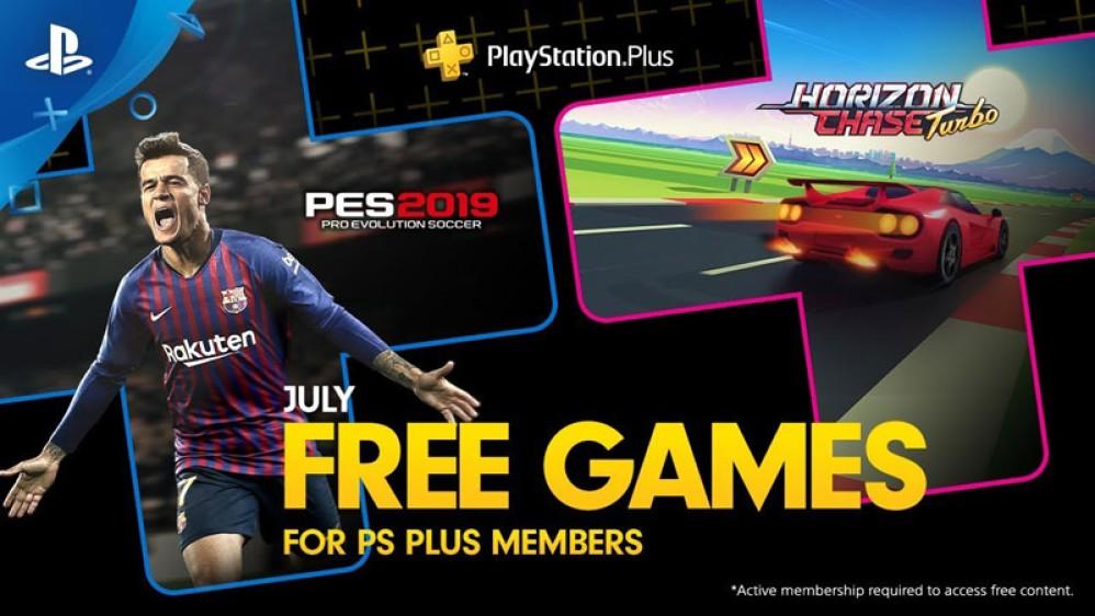 PS Plus: Δωρεάν τα PES 2019 και Horizon Chase Turbo για το μήνα Ιούλιο! [Video]