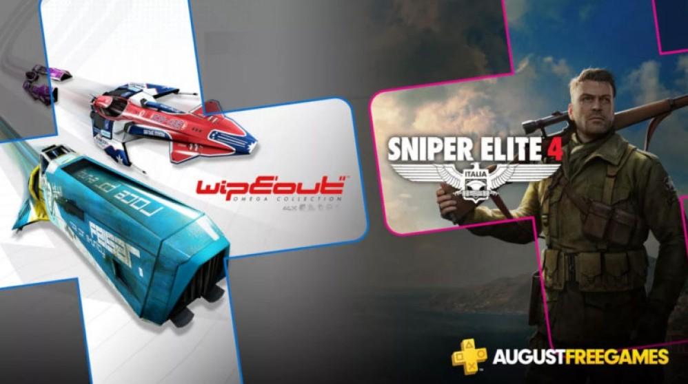 PS Plus: Δωρεάν τον Αύγουστο τα Sniper Elite 4 και Wipeout Omega Collection