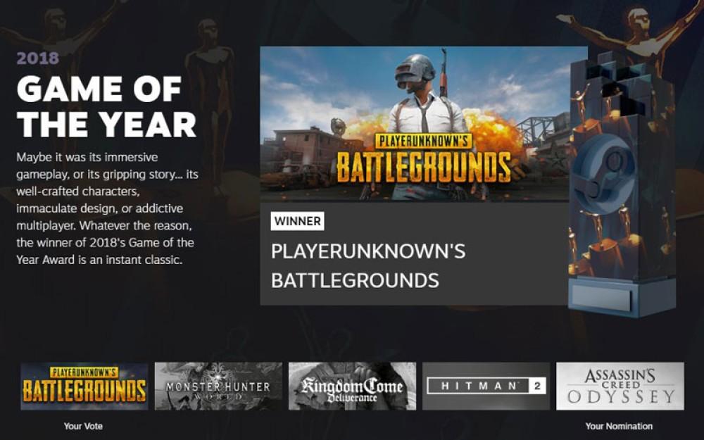 Steam Awards 2018: Κορυφαίο παιχνίδι της χρονιάς το PUBG!
