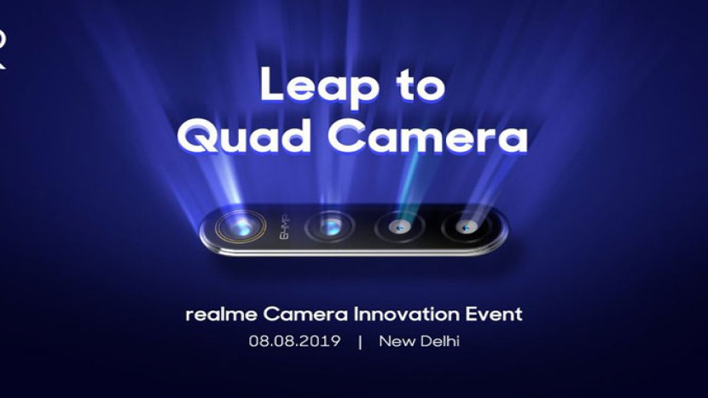 Realme (Oppo): Παρουσιάζει το πρώτο smartphone με κύριο αισθητήρα κάμερας 64MP στις 8 Αυγούστου
