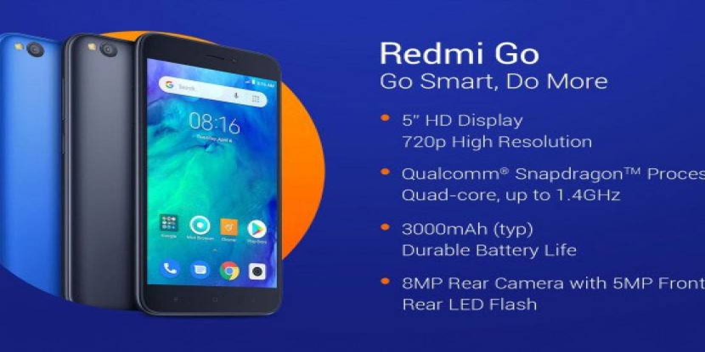 Redmi Go: Επίσημα με οθόνη 5'' HD, μπαταρία 3000mAh και τιμή €80