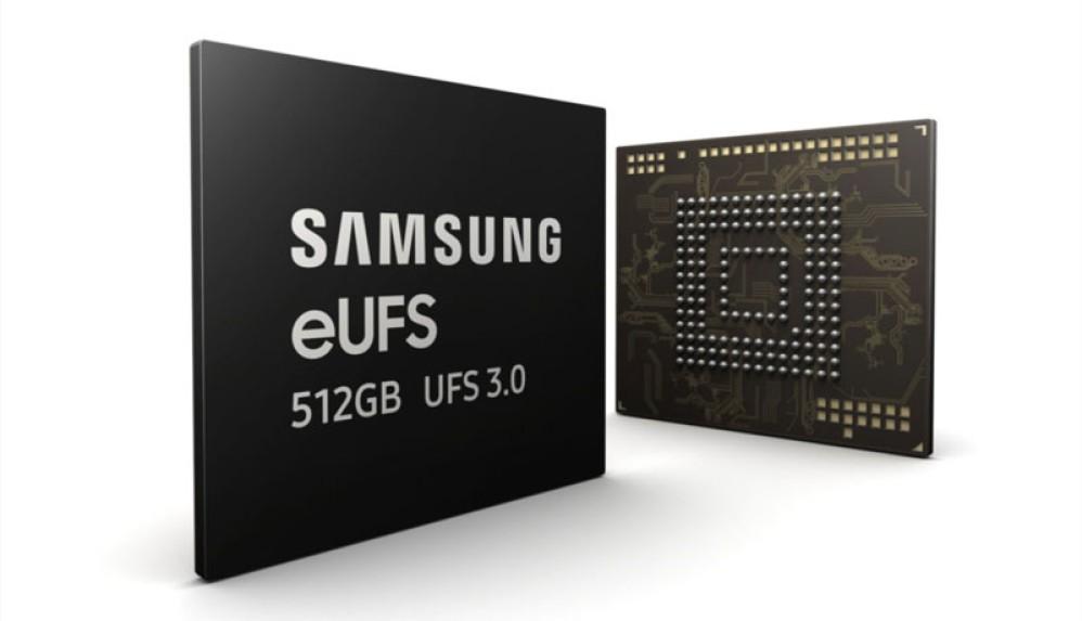 Η Samsung ξεκινά μαζική παραγωγή ταχύτερης μνήμης 512GB eUFS 3.0 για φορητές συσκευές
