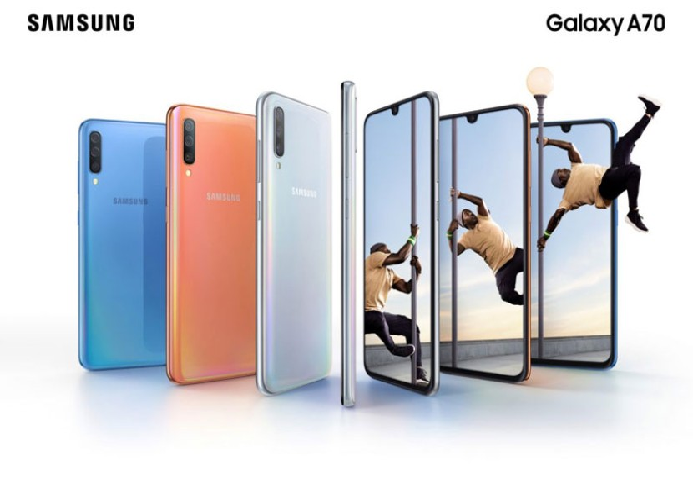 Samsung Galaxy A70: Επίσημα με οθόνη 6.7'' Infinity-U Super AMOLED, τριπλή κάμερα και μπαταρία 4500mAh