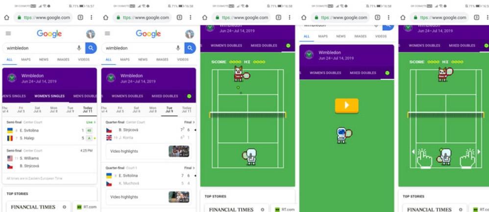 Παίξε το 8-bit tennis game της Google για το Wimbledon μέσα από τη μηχανή αναζήτησης
