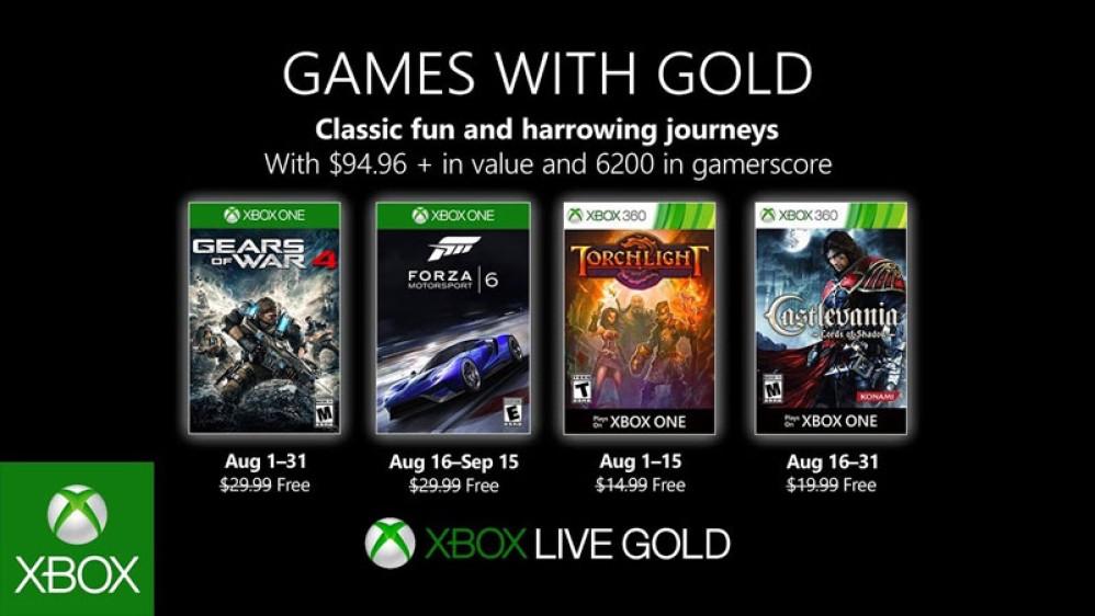 Games with Gold: Δυνατοί τίτλοι δωρεάν τον Αύγουστο για τους συνδρομητές Xbox Live