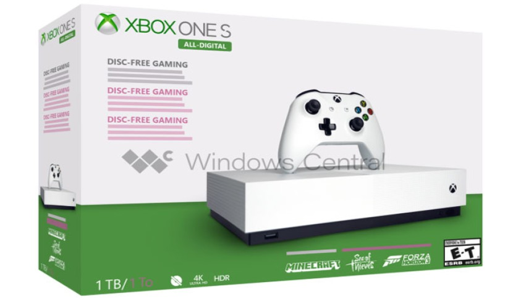 Xbox One S All-Digital: Έρχεται τον επόμενο μήνα η disc-less έκδοση;