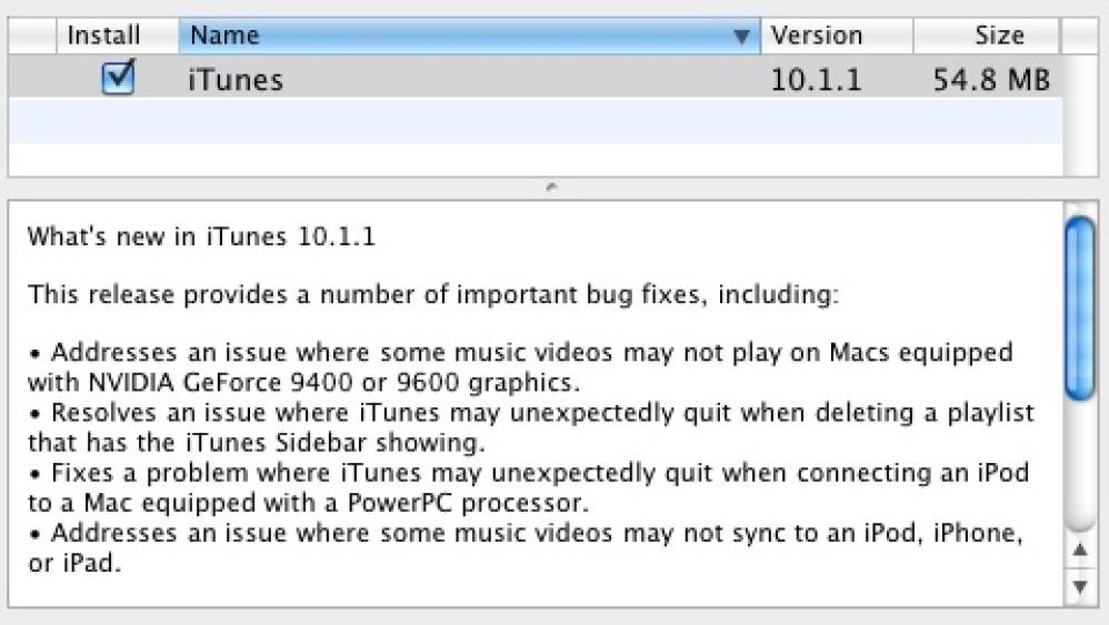 Apple iTunes 10.1.1: Update για επίλυση μερικών προβλημάτω