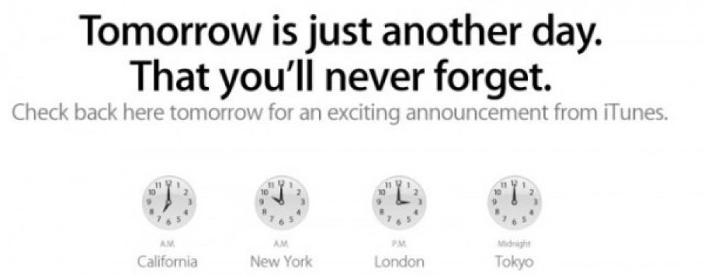 Η Apple ετοιμάζει για αύριο μεγάλη ανακοίνωση σχετικά με το iTunes!