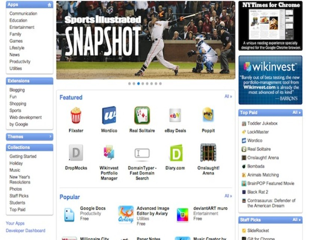 Google Chrome Event: Chrome Web Store έτοιμο με 500 εφαρμογές!