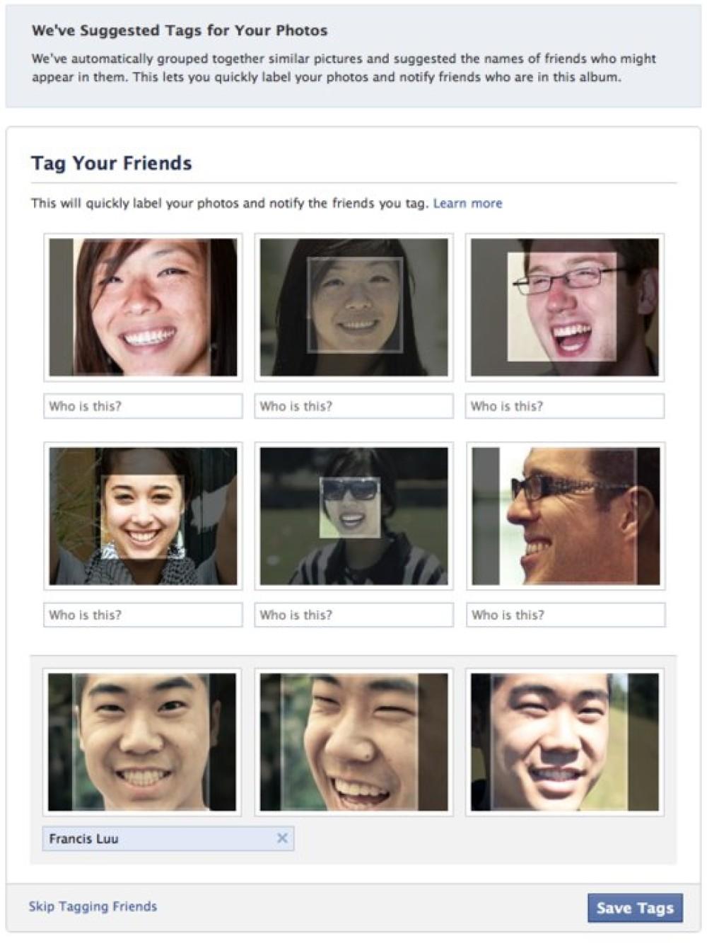 Facebook Photos Tag Suggestions: Η νέα λειτουργία αναγνώρισης προσώπου για αυτόματο tagging στις φωτογραφίες, θα συζητηθεί πολύ...