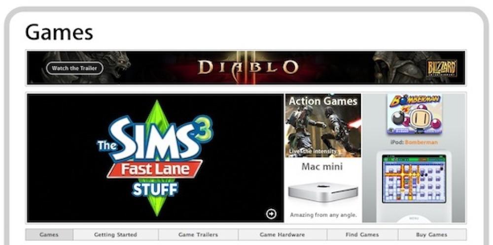 Νέος τομέας για παιχνίδια (Mac, iPhone, iPod, iPad) στην επίσημη ιστοσελίδα της Apple