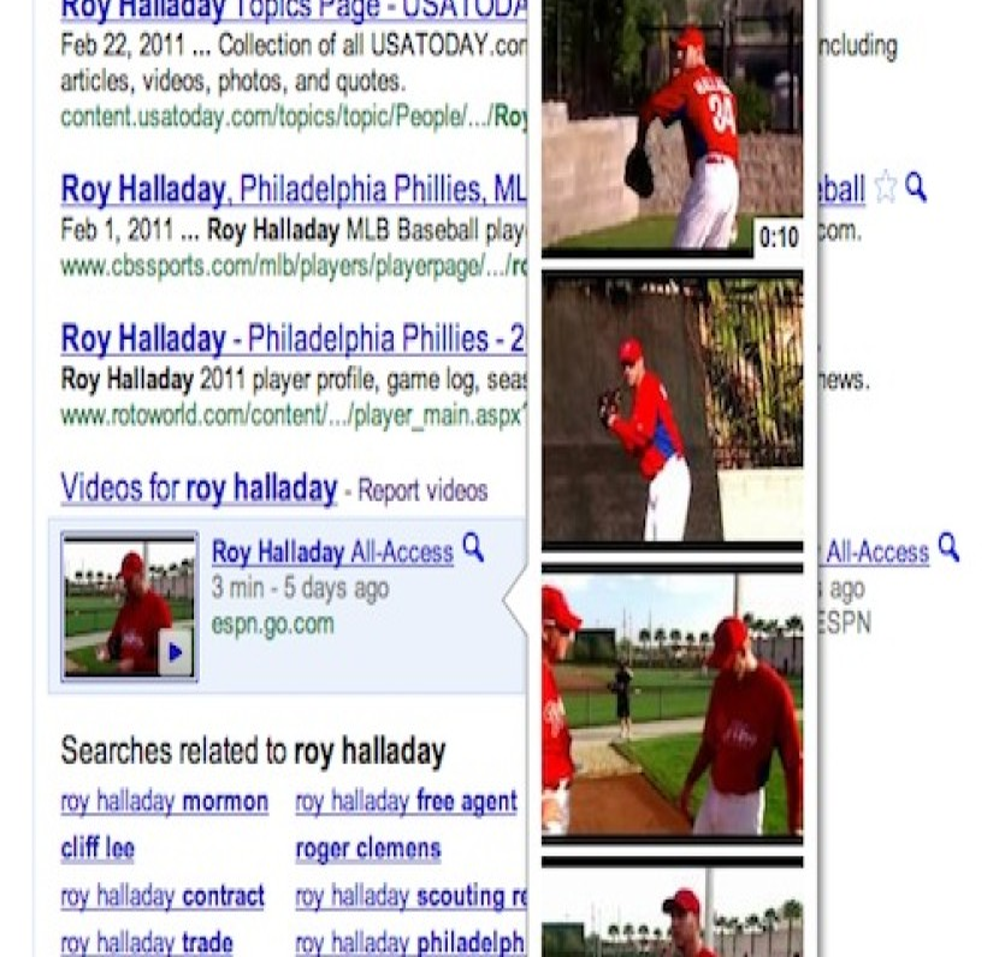 Google Instant Previews, τώρα και για τα αποτελέσματα video!