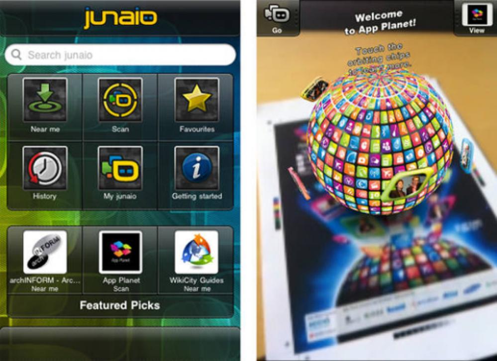 Junaio Augmented Reality Mobile Browser