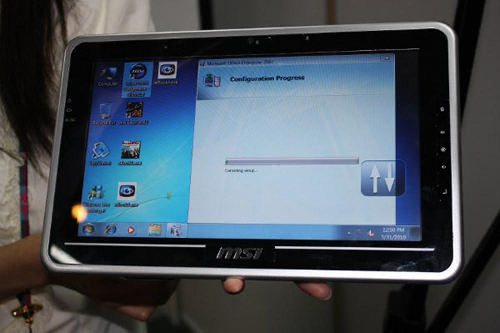 MSI WindPad U100A/U100W video preview λίγο πριν την παρουσίαση στην CES 2011