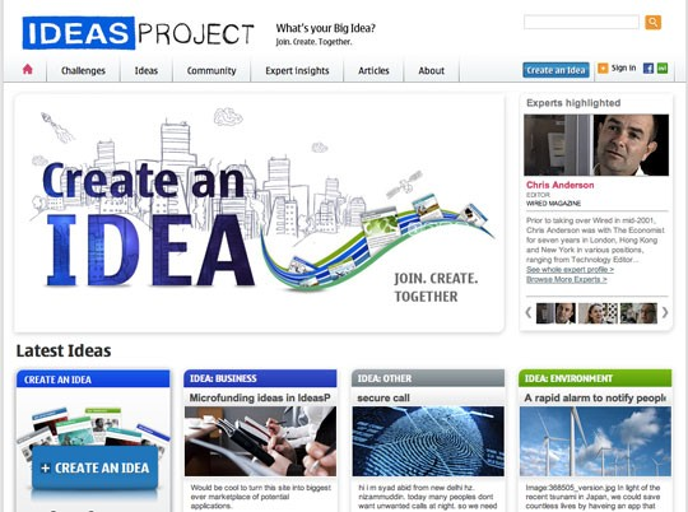 Nokia IdeasProject, η νέα web κοινότητα ανταλλαγής ιδεών για mobile εφαρμογές
