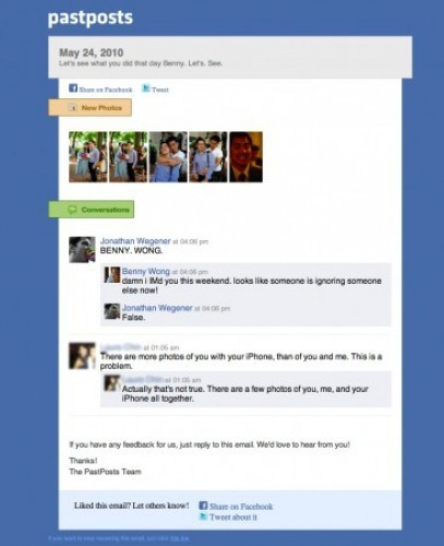 Past Posts: Τι έκανες πέρσυ στις 29 Μαΐου στο Facebook;