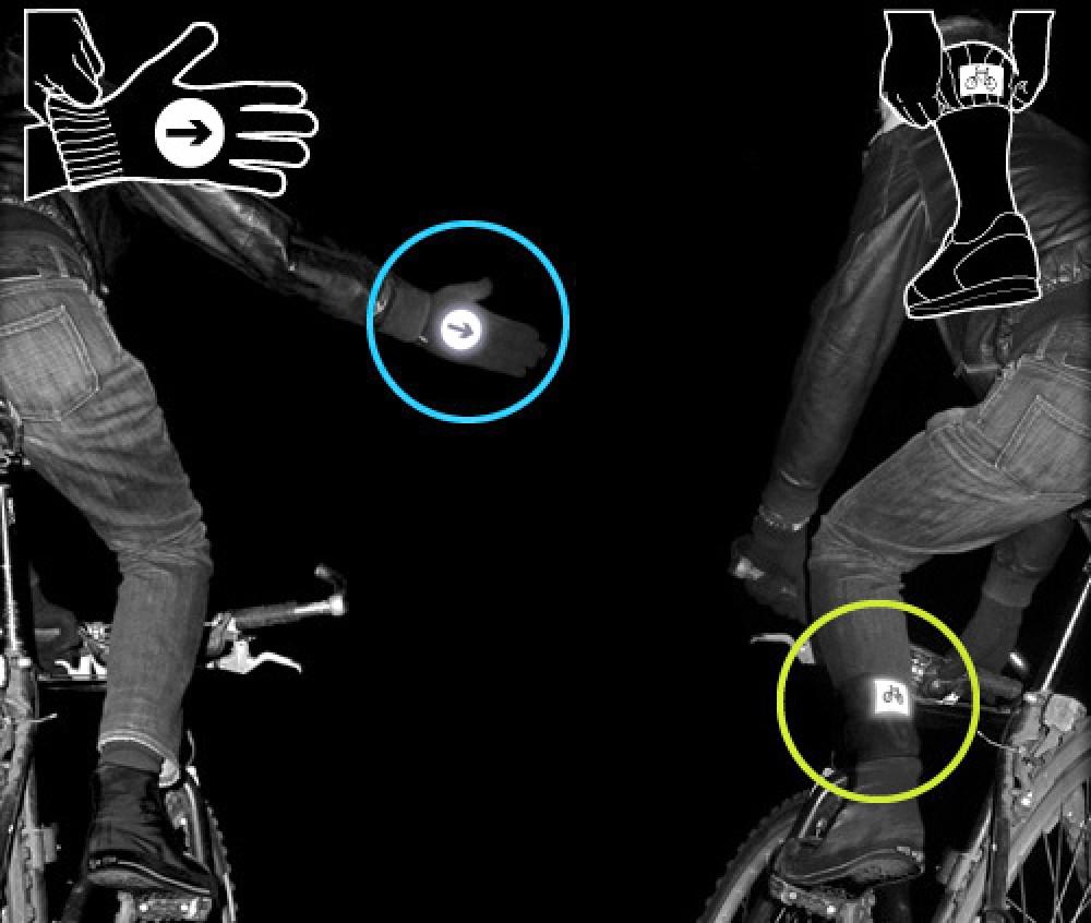 Γάντια και κάλτσες με αντανακλαστική επικάλυψη για ποδηλάτες!