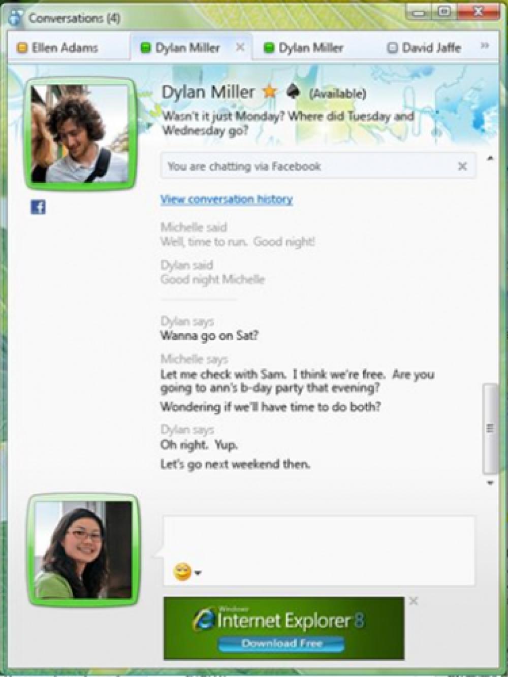Συνομιλήστε με τους φίλους στο Facebook από το Windows Live Messenger